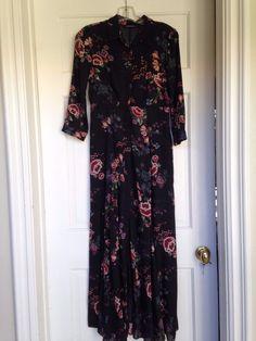 ZARA dress XS Black Floral Maxi #ZARA #Maxi