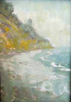 Hendry's beach No 3.   5 x 7 oil on canvas board.   Samuel Smith, 2013.