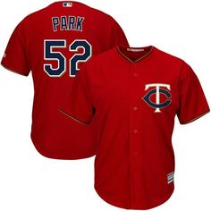 Byung-ho Park Minnesota Twins Majestic Alternate Home Official Cool Base Player Jersey - Scarlet - $119.99
