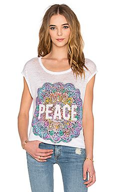 Shop for Chaser Peace Mandala Tee in White at REVOLVE. Free 2-3 day shipping and returns, 30 day price match guarantee.