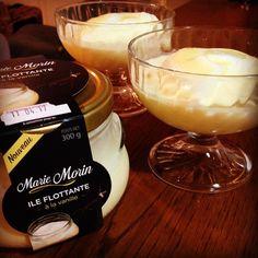 Dessert du soir... île flottante #mariemorin  Miaaam  Comme si c'était moi qui l'avait fait #invitesdusoir #faitmaison #ileflottante #vanille #cremeanglaise #mariemorin #delice #formatfamilial #apartager #gourmand #pratique #desserttime