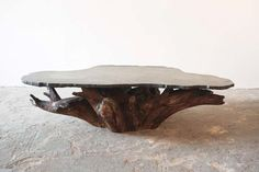 Tree Root and Stone Coffee Table at 1stdibs