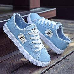 Buy Sneakers For Women at JustFashionNow. Online Shopping Women Canvas Sneakers … Buy Sneakers For Women at JustFashionNow. Denim Sneakers, Sneakers Mode, Canvas Sneakers, Sneakers Fashion, Fashion Shoes, Sneakers Adidas, Denim Shoes, Sneakers Workout, Converse Fashion