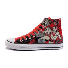 f3dfc6c48b6a Converse Shoes Red Authentic DC Comics- Superman Chuck Taylor All Star  Womens Mens Canvas Hi Sneakers -   dxsneaker