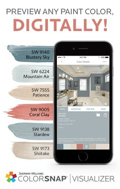 Choose your next DIY paint color in a snap. With a variety of room scenes