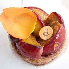 The Tarte Peche with Rose and Cumin from Pierre Herme in Paris, France.