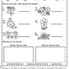 non standard measuring, spring, flowers, 1st grade math