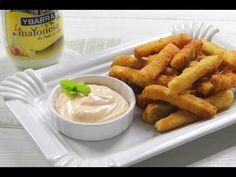 Bastoncitos de calabacín con mayonesa picante, una fritura deliciosa acompañada con un toque de mayonesa picante.