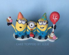 Minion cake topper