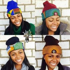 All Things Ankara: Winter Accessories: DpiperTwins Ankara Print Beanies African Dresses For Women, African Attire, African Wear, African Women, African Outfits, African Style, African Inspired Fashion, African Print Fashion, Africa Fashion