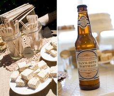 This blog has TONS of party ideas to do for adult parties! So fun and original! This one I liked the set-up, not that I would do a beer tasting party, but maybe root beer? :) haha jk