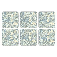 Pimpernel Morris /& Co Strawberry Thief Coasters Drink Mats Blue Set of 6 New Box