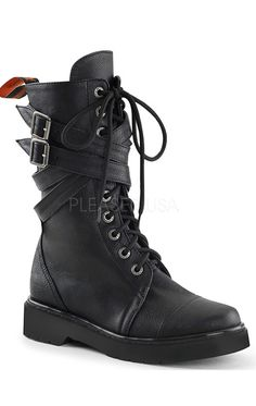 Black Vegan Women's Combat Boots