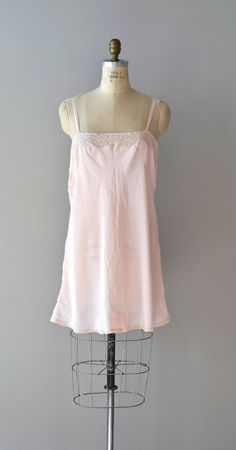 1920s lingerie / 20s flapper silk chemise / silk and by DearGolden, $124.00