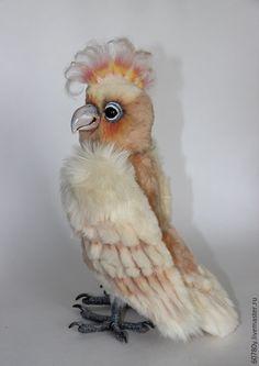 Купить Попугай Жоржик. - кремовый, попугай, попугаи, попугайчик, какаду, попугай тедди, аверина олеся