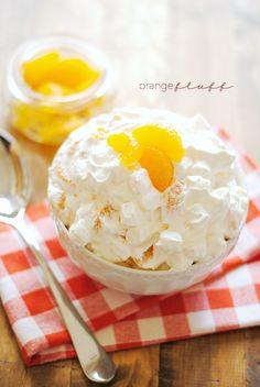 Orange Fluff Recipe   www.somethingswanky.com