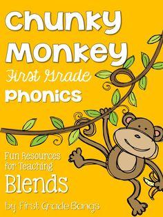 More essential phonics skills from my Chunky Monkey Phonics unit!