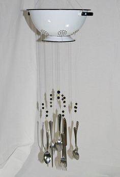 clever wind chime...planter, too?