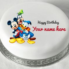 Cake Images With Name Praveen : Write Name on Happy Birthday Cake With Candles praveen ...