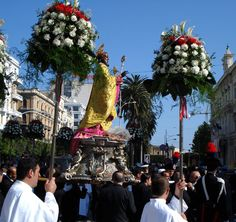 """of May is taking place every year the big annual """"Festa di San Nicola"""" in Bari (Saint Nicholas festival) in Italia. Watch a video about the Festa in. Photo Voyage, Black Santa, Saint Nicolas, Puglia Italy, World Cultures, European Travel, Travel Photos, The Good Place, Around The Worlds"""