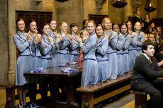 Beauxbatons - I love their uniforms, so feminine and classy.