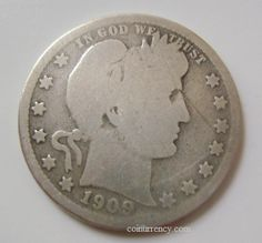 1909 D Barber silver US Quarter Us Coins, Rare Coins, Coins Worth Money, Forgotten Treasures, Coin Worth, Old Money, Show Me The Money, Coin Collecting, Barber