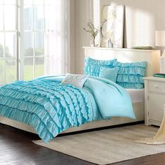 Intelligent Design Waterfall Comforter Set Size: Twin / Twin XL, Color: Blue