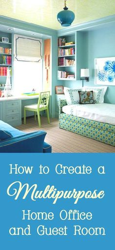 Many people do not need a guest room all of the time, so they combine a guest room with a home office so the space is not wasted. Here are a few designer tips and tricks for making a multipurpose home office and guest room.