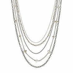 Simply Vera Vera Wang Bead Long Multistrand Necklace #kohls