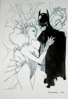 Batman & Poison Ivy by Sara Pichelli Comic Art