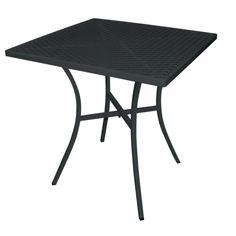 Black Steel Patterned Square Bistro Table 700mm - GG706 - Buy Online at Nisbets