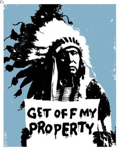 'Get Off My Property' mini art-print - available http://www.etsy.com/listing/94072251/limited-edition-get-off-my-property-mini