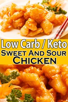 This low carb keto sweet and sour chicken is the classic Chinese dish that can be made in just 15 minutes that consist of tender chicken pieces smothered in sweet-savory sauce Keto Foods, Ketogenic Recipes, Diet Recipes, Cooking Recipes, Paleo Diet, Smoothie Recipes, Ketogenic Diet, Dessert Recipes, Low Carb Chicken Recipes