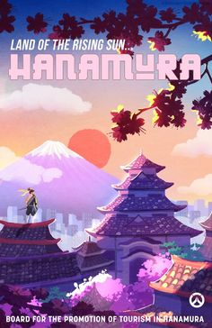 Overwatch - Hanamura Poster Overwatch Posters, Overwatch Hanzo, Overwatch Comic, Overwatch Memes, Videogames, Overwatch Wallpapers, Aesthetic Japan, Game Background, Poster Series