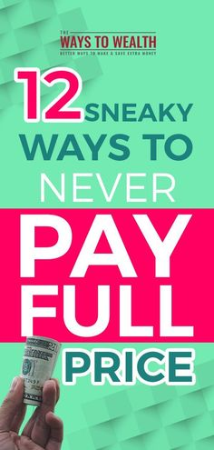 Clever Tricks to Never Pay Full Price for Anything 10 Sneak Ways to Never Pay Full Price for Anything money saving tips Ways To Save Money, Money Tips, Money Saving Tips, Money Savers, Money Hacks, Online Shopping, Shopping Hacks, Life Hacks, Tips