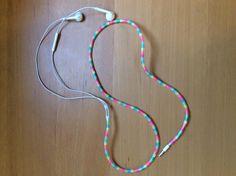 Hama / Perler beads earphone for my friend