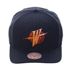 27329e59100d0 Mitchell   Ness Curve Golden State Warriors 1997 Alternate Snapback Hat -  Navy