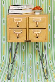 How-to: Card Catalog. Found the card catalog while thrifting today!