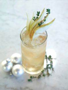 Partridge in a pear tree drink:  Mix 1 1/4 oz. of pear vodka with 1/2 oz of peach-flavored schnapps, then fill the rest of the glass with equal parts of grapefruit juice and sprite