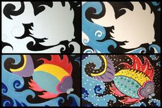 "Evolution of the ""Aboriginal Fish"" @ Painting with a Twist-Miami"