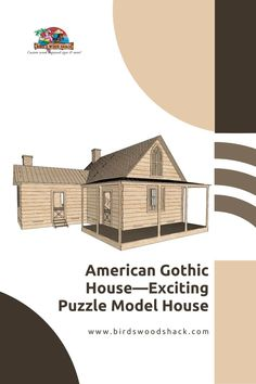Inspired by the much appreciated American mystery drama 'American Gothic, this 3D puzzle is entertaining yet challenging. It is a great game to release stress and boost imagination and creativity through role-playing. A fun way to relive the mysterious family drama, this Gothic house model showcases exquisite details depicting the mid-19th century American Gothic architecture. #wood #modelhouse #americanhouse #gift #decor #bird'swoodshack #puzzle