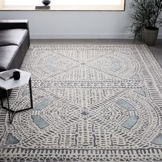 Dynasty Rug - Dusty Blue | west elm