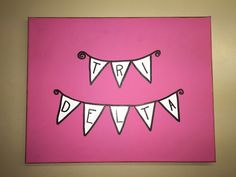 Sorority Banner Canvas by KanvasesByKelly on Etsy