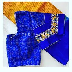 Hand Work Blouse Design, Simple Blouse Designs, Stylish Blouse Design, Pattu Saree Blouse Designs, Blouse Designs Silk, Blouse Patterns, Maggam Work Designs, Simple Embroidery, Maggam Works