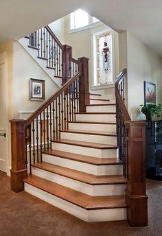 Lane Myers Construction Custom Home Builder--railing/staircase shape