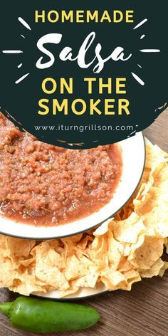 If you love salsa then kick it up a notch and try out this Homemade Smoked Salsa recipe! Whether you have a Traeger or another pellet smoker, you can do this on any smoker you like...this recipe with fresh tomatoes can be canned or served fresh that day! We walk you through how to smoke the best smoked salsa that's both fresh and made as spicy or mild as you'd like! #smokedsalsa #traeger #pelletgrill #homemade Grilled Vegetable Recipes, Fresh Tomato Recipes, Grilled Vegetables, Cooking Recipes, Healthy Recipes, Smoker Recipes, Fun Recipes, Smoked Salsa Recipe, Spicy Salsa