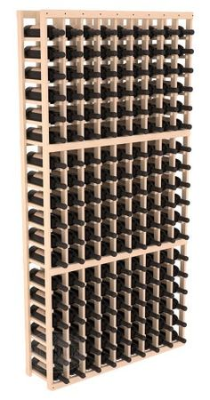 Nine Column 162 Bottle Wine Cellar Kit/Rack in Ponderosa Pine with Stain & Finish Options With same day free shipping, this value can't be beat. Dimensions: 77 1/8(h) x 38 3/8(w) x 10 1/2(d). Capacity: 162 Wine Bottles and Fits all 750ml Bottles. Constructed of Furniture Grade Ponderosa Pine. Proudly Made in the USA. Money Back Guarantee + Lifetime Warranty.  #WineRacksAmerica #Kitchen