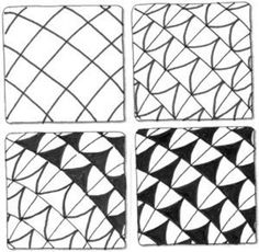 Easy Zentangle Patterns Step By Step