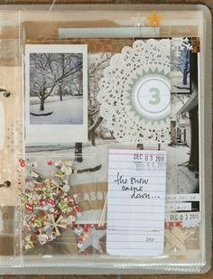 Lisa Truesdell's amazing December Daily 2011 Journal. Days 1-4