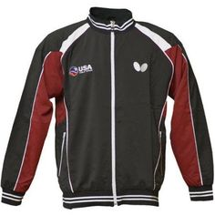USA Table Tennis Team Jacket, Grey, Size: 2XS, Gray